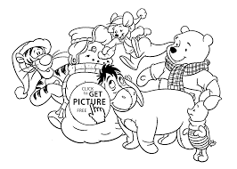 holiday coloring pages printable free winnie and friends coloring