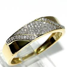 wedding set rings his and rings trio wedding set yellow gold 1 2cttw diamonds