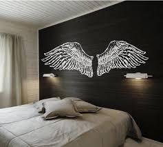 headboard wall art design stupendous wall art headboard hand drawn angel wings