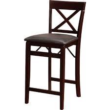 linon home decor bar stools linon 01850esp01asu triena x back folding counter stool in
