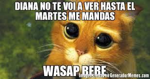 imagenes wasap martes diana no te voi a ver hasta el martes me mandas wasap bebe meme de