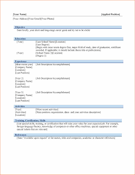 Template For Basic Resume 8 Basic Resume Templates Microsoft Word Budget Template Letter