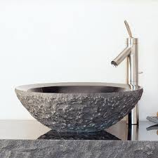 round sink bowl beveled round sink chiseled stone forest