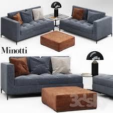 Minotti Andersen Sofa 3d Models Sofa Minotti Andersen Quilt Sofa