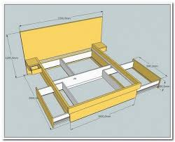 attractive king size bed frame with drawers plans and building a