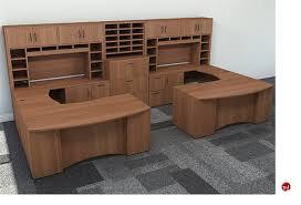 u shaped workstation desks the office leader peblo 2 person u shape bowfront office desk