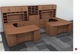 Office Desk Workstation The Office Leader Peblo 2 Person U Shape Bowfront Office Desk