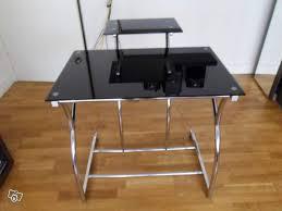 bureau informatique verre trempé bureau informatique verre tremp noir 100 images d angle