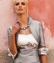 tailleur mariage tailleur robe courte et bolero de soirée gris et