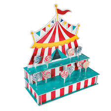 circus carnival big top birthday party lollipop lolly cake pop