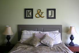 White Painted Headboard by Bedroom Blue Blanket White Beds White Bedside Lamp Blue Pillows