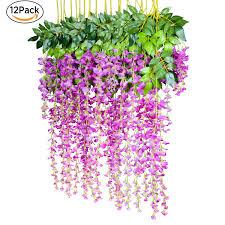 amazon com 12 pack 1 piece 3 6 feet artificial flowers silk