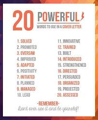 good words to use in a cover letter words to use in cover letter