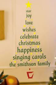 ace blog christmas tree ideas for small spaces personalised christmas tree wall sticker
