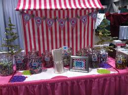 Pink And White Candy Buffet by Pink And White Stripe Awning For Candy Buffet Www
