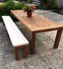outdoor backless bench cushion sustainable furniture
