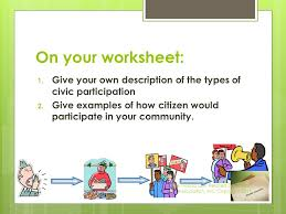 citizen in the community worksheet the best and most