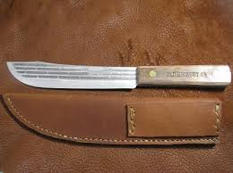 hickory kitchen knives hickory 7 butcher knife with leather sheath