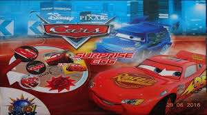 cars disney pixar lightning mcqueen 10 kinder surprise eggs youtube