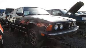bmw e23 7 series manual transmission junkyard car