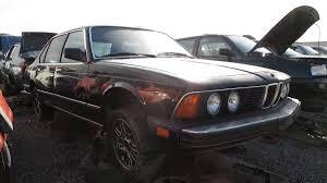 bmw e23 7 series manual transmission junkyard car