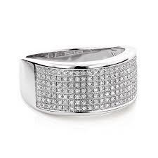 wedding bands for with diamonds wedding band in sterling silver 0 32ct mens