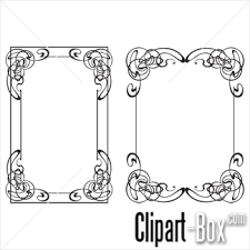 clipart frames ornament royalty free vector design fonts