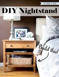 Diy Wooden Bedside Table by Best 25 Diy Bedside Tables Ideas On Pinterest Diy Furniture