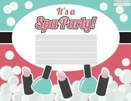 spa party invitations lovetoknow