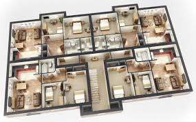 25 more 3 bedroom 3d floor plans house ground small luxihome