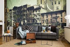 best wall murals for industrial themed living spaces eazywallz