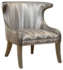 Silver Accent Chair Collection In Silver Accent Chair Geometric Accent Chairs Wayfair