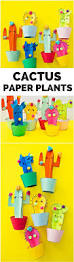 diy happy cactus plant craft with free printable templates cute