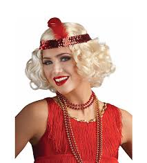 headband online 1920 s flapper wig with sequin headband feather
