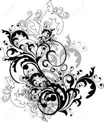 monochrome floral ornament vector royalty free cliparts vectors