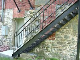 interest exterior metal stairs house exteriors