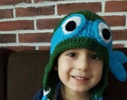 Blue Ninja Turtle Halloween Costume Ninja Hat Etsy