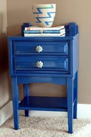 how outstanding ideas blue nightstand with blue beach painting