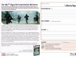 comprehension worksheet star wars a rogue one story ks2 by