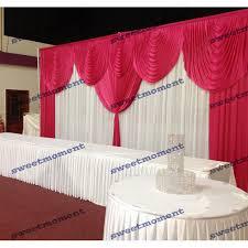 3x6m wedding backdrop with detachable swag wedding curtain font