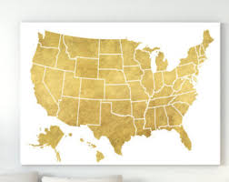 us map 50 states us map map print wall wanderlust gift map of