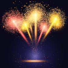 celebration background with colourful fireworks vector free