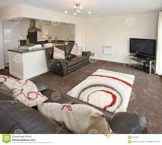 modern open plan apartment interior royalty free stock photography