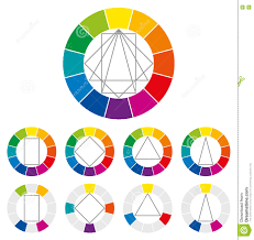 color wheel color combinations stock vector image 74868603