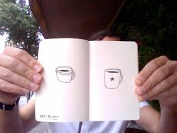 moleskine notebook project coffee cup drawings
