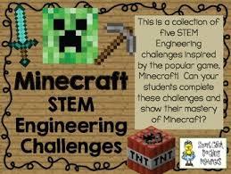 Challenge Minecraft Minecraft Stem Stem Engineering Challenge Pack Set Of Five By