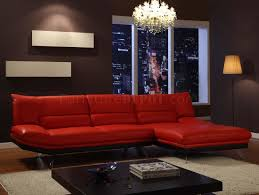 Red And Black Living Room by Red Or Mocha Leather Sectional Sofa With Metal Legs