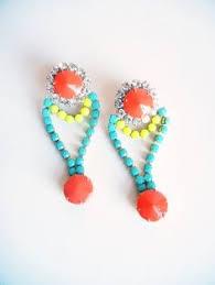 eighties earrings neon green earrings eighties earrings neon earring by urbanclink