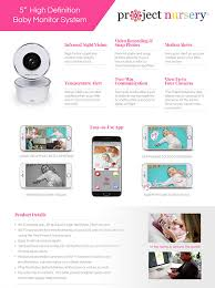 easy to use home design app amazon com project nursery hd wifi video baby monitor system