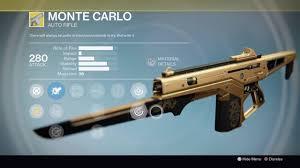 destiny rise of iron monte carlo ornaments gold black